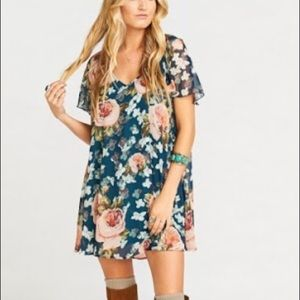 SMYM Kylie Mini Dress in Fall in Love Floral